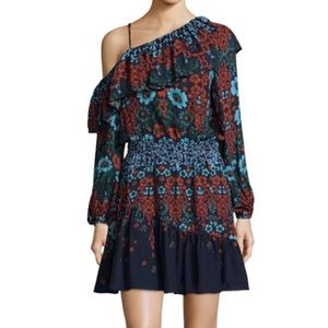 Parker Floral Silk Dress M NWT BRAND NEW